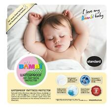 Bambi Baby Soft Jersey Cotton Bamboo Waterproof Cot Mattress Protector