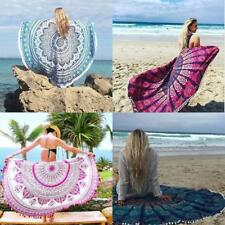 Round Tapestry Beach Towel Hippie Picnic Blanket Wall Hanging Yoga Throw Mat