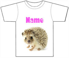 PERSONALISED CUTE BABY HEDGEHOG T-SHIRT PRINTED WITH ANY CHILD'S NAME GIRL/BOY