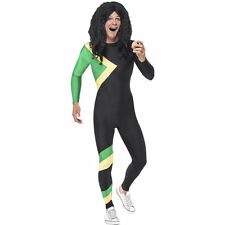 Jamaican Bobsleigh Team 90s Bobsled Adult Fancy Dress Costume Sport Stag Party