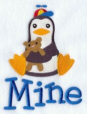 Personalised & Custom Embroidered Mine Penguin Towel Set  Face,Hand&Bath Towels