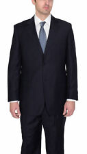 Carlo Palazzi Classic Fit Navy Blue Pinstriped Two Button Wool Suit