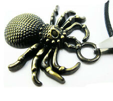 Necklace  New Cool Unisex  Stainless Steel Leather  Spider  Pendant  Jewelry