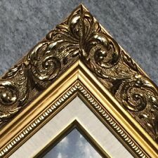 Classic GOLD Ornate WOOD Picture Frame LINEN 1216GL