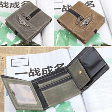1pcs New Women Army Green Tri-fold Zipper Decorated  Card  Coin Wallet