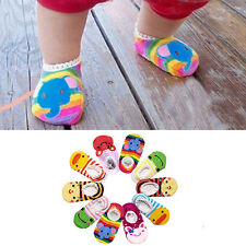 Cute Baby Kids Toddler Girl Boy Anti-Slip Cotton Socks Shoes Slipper 6-24 Months