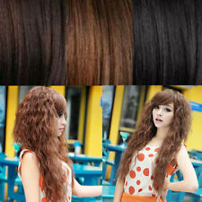Womens Hair Wigs Cosplay New Sexy Party Fashion Long Wavy Full Curly 3 Colors