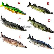 Artificial 8-Section Multi Jointed Large Fishing Swimbait Crankbait Bass Lure