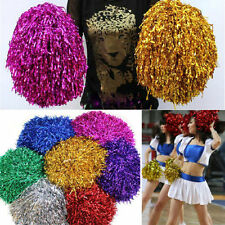 Pair Pom Poms Cheerleader Cheerleading Cheer Pom Pom Dance Party Xmas Décor JXUS