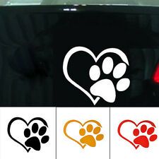 Pet Paw love heart Pattern Car Window Stickers Vinyl Beast Cats And Dogs Decals