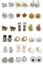 Stunning New Design Austrian Crystal Silver Gold Tone Stud Earrings 18 Styles