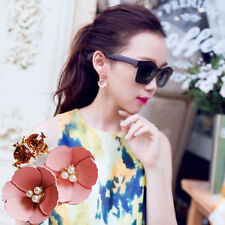 1 Pair Earrings Lady Women Flower Fashion Elegant Crystal Rhinestone Ear Stud