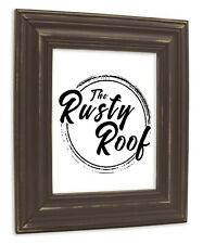 Wide Distressed Espresso Picture Frame - Solid Wood