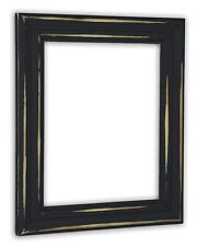 Distressed Black Picture Frame - Solid Wood