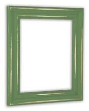 Distressed Leafy Green Picture Frame - Solid Wood