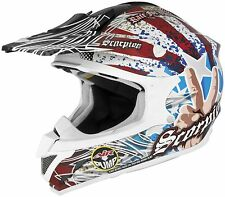 Scorpion VX-34 Victory Offroad Motocross Motorcycle Helmet Red