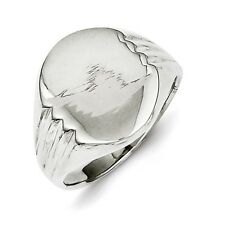 Sterling Silver Open Back Signet Ring 14.8 mm x 11.9 mm 4.05 gr Size 6 to 8