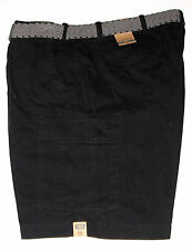 Foundry Supply Co Belted Cargo Shorts Black Big & Tall size 46, NWT