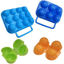 Folding Carry 2/6/12 Eggs Box Plastic Case Outdoor Storage Container Eggs Mold