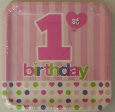 1st Birthday Boys & Girls Birthday  Party Disposable Paper Plates