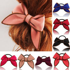 Scrunchie Ponytail Hair Accessories Hairband Bow Holder Hair Rope Satin Ribbon