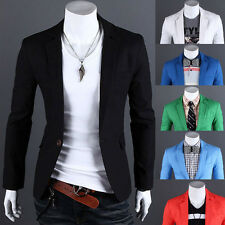 New Casual Stylish Mens Slim Fit One Button Suit Coat Jacket Blazers