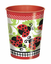 lively ladybug theme Cups 9oz paper cups and 16oz plastic cup