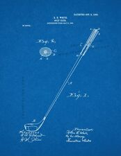 Golf Club Patent Print Blueprint