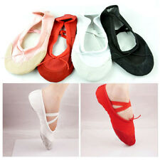 Fashion Girls Canvas Ballet Dance Fitness Shoes Gymnastic Slippers Shoes
