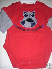 Jumping Beans Infant Baby Boy's Red Bodysuit Long Sleeve 3M 6M $12. NWT