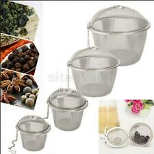 Practical Tea Ball Spice Strainer Mesh Infuser Filter Stainless Herbal 4 Sizes