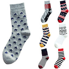 One Pairs Lot Mens Designer Fashion Dress Socks New Stripe Argyle Color Muilt
