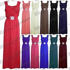 Womens Long Bridesmaid Party Cocktail Evening Ladies Prom Buckle Date Maxi Dress