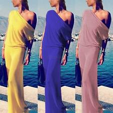 Sexy Off Shoulder Women Long Maxi Dress Evening Party Summer BOHO Beach Sundress