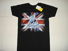 DEF LEPPARD UK FLAG NEW T-SHIRT S M L XL 2XL METAL ROCK BAND JOE ELLIOT RICK SAV