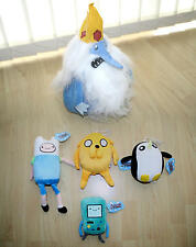ADVENTURE TIME, PLUSH FINN, JAKE THE DOG, BEEMO (BMO), GUNTER PENGUIN & ICE KING