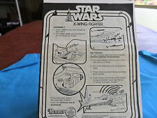 1977 STAR WARS  X-WING FIGHTER INSTRUCTIONS IN EX COND