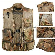 Mens Outdoor Sports Multi-Pocket Mesh Vest Fly Fishing Photography Travel Jacket