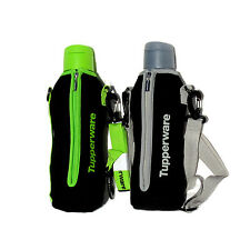 Tupperware Bottle with Insulated Carrier Pick from Silver or Green 1 litre