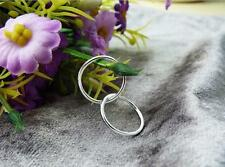 1mm Small Endless Italy Sterling Silver Hoop Earrings New Jewelry