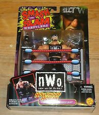 1999 WCW NWO Hollywood Hulk Hogan Wrestling figure Smash and Slam MOC WWF WWE