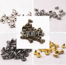 100Pcs Bronze Jewelry Accessories Ear Caps Finding Metal Gold Silver Bullet