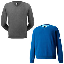 FOOTJOY MENS MERINO V-NECK SWEATER - NEW FJ WOOL JUMPER GOLF TOP PULLOVER 2015