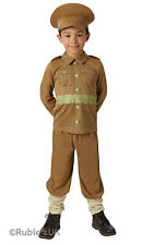 Boys Book Week WW1 Soldier Captain Costume Historical Kids Fancy Dress Outfit