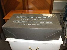 Vintage 1960s Buckleigh Westward Ho! Laundry Box Storage Trunk Hobby Chest Old
