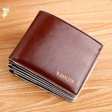 Mens Faux Leather Bifold ID Credit Card Holder Purse Billfold Wallet Money Clip