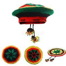 Bob Marley Jamaica Rasta Beanie Hat Warm Beret Cap Reggae Caribbean Fancy Dress