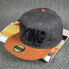 Trendy King Baseball Cap Brim Snapback Hat Hip-Hop Adjustable Bboy Cap Unisex