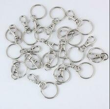 10/20 Key Ring Clips Trigger Hooks Clasps Hot Swivel Finding Charm Bag Lobster