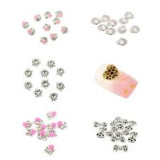 10pcs 3D Nail Art Decoration Crystal Rhinestone Charm Glitter Tips DIY Manicure